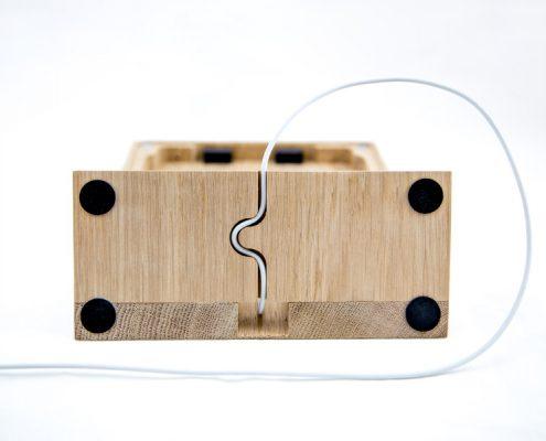 TabLines TTS Tablet Tischständer Eiche Kabelführung