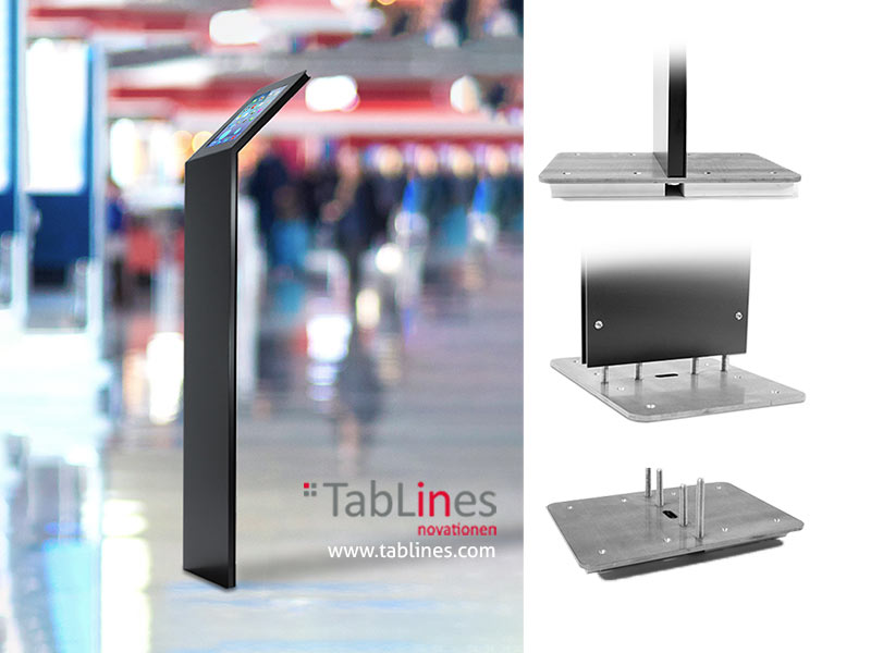 tablines tbs design ipad staender in boden eingelassen tablethalterung