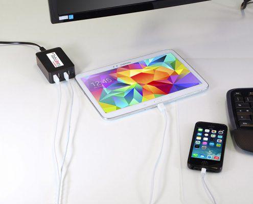 TabLines USB4-C 4-Port USB-Ladegerät mit 1m Euro-Netzkabel