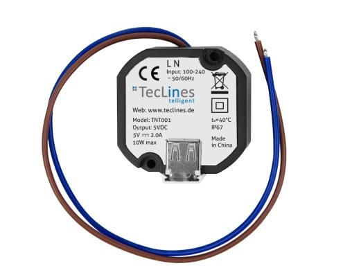 TecLines TNT001 Wandeinbau USB Netzteil für Tablets