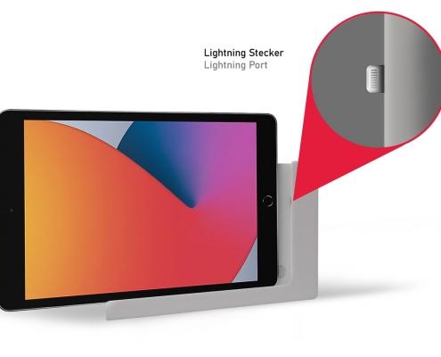 TabLines TWP004S iPad Wandhalterung mit Ladefunktion Lightning